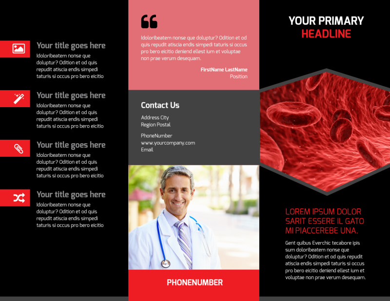 Plasma Donation Center Brochure Template Preview 2