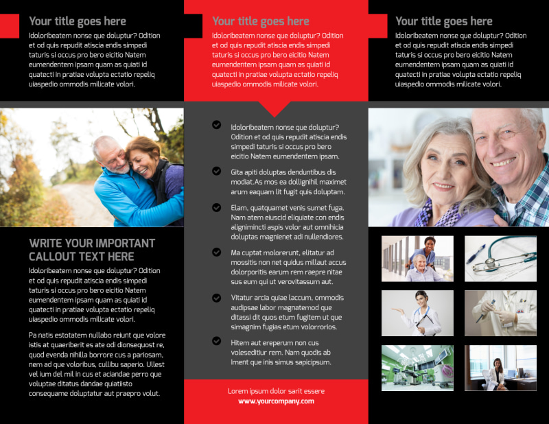 Plasma Donation Center Brochure Template Preview 3