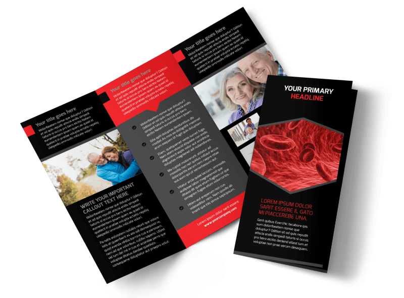 Plasma Donation Center Brochure Template Preview 1