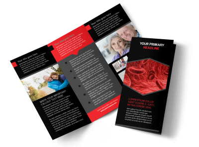 Plasma Donation Center Tri-Fold Brochure Template preview