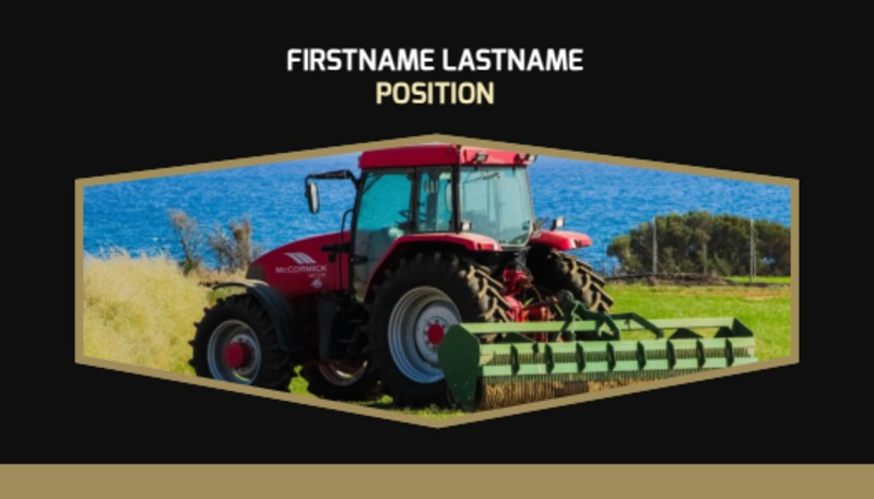 Farm Safety Awareness Business Card Template Preview 2