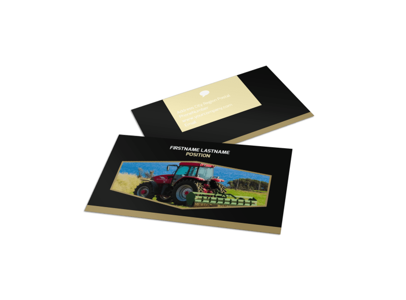 Farm Safety Awareness Business Card Template Preview 1