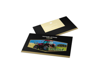 Farm Safety Awareness Business Card Template preview
