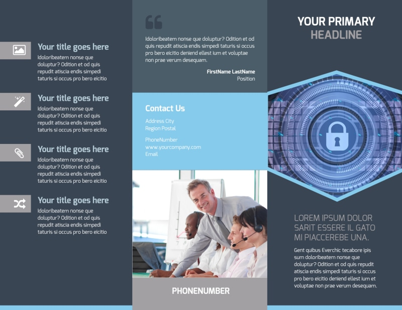 IS Security Brochure Template Preview 2