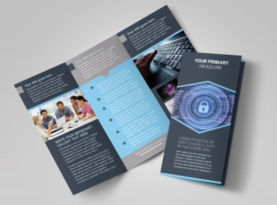 IS Security Tri-Fold Brochure Template preview