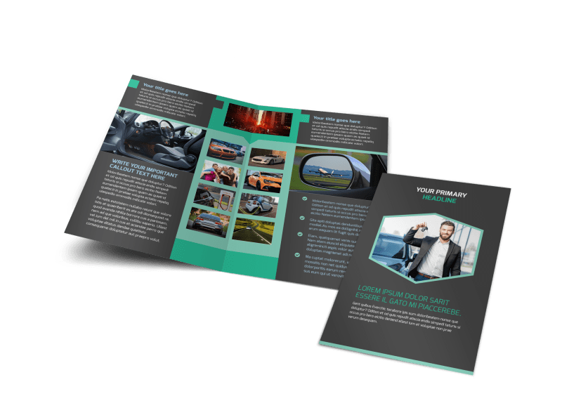 Car Rental Brochure Template Preview 1