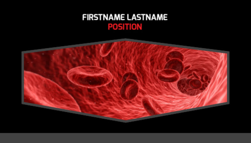 Plasma Donation Center Business Card Template Preview 2
