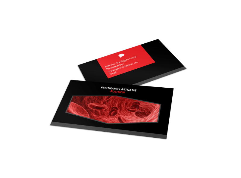 Plasma Donation Center Business Card Template Preview 1