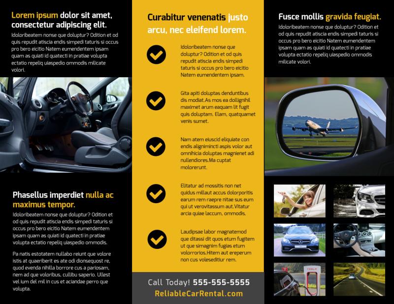 Car Rental Brochure Template Preview 3