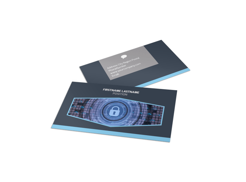 IS Security Business Card Template Preview 1