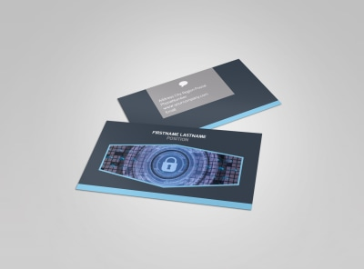 IS Security Business Card Template