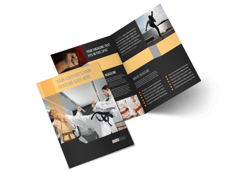 Martial Arts Instructor & School Bi-Fold Brochure Template 2