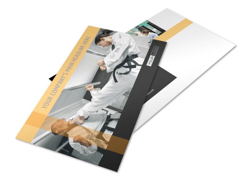 Martial Arts Instructor & School Postcard Template 2