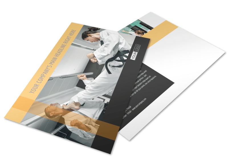 Martial Arts Academy Postcard Template Preview 4