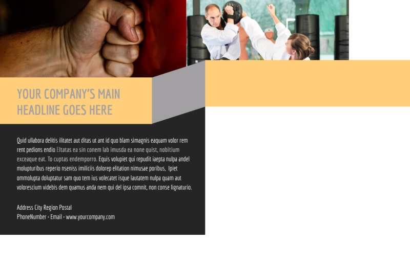 Martial Arts Academy Postcard Template Preview 3