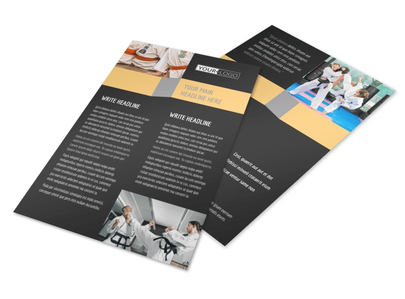 Martial Arts Instructor & School Flyer Template 3