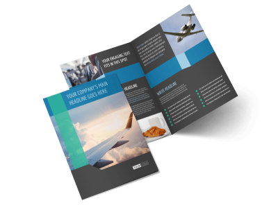 Aircraft Charter Bi-Fold Brochure Template 2 preview