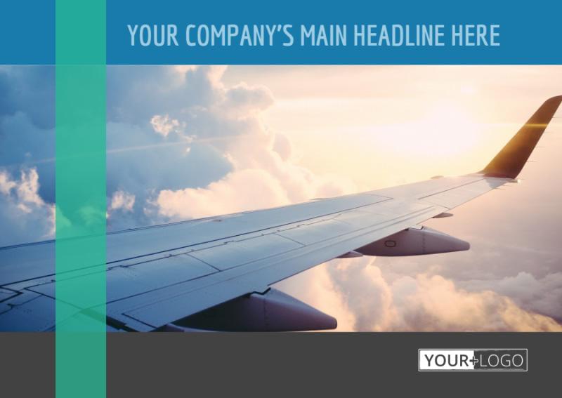 Aircraft Charter Postcard Template Preview 2