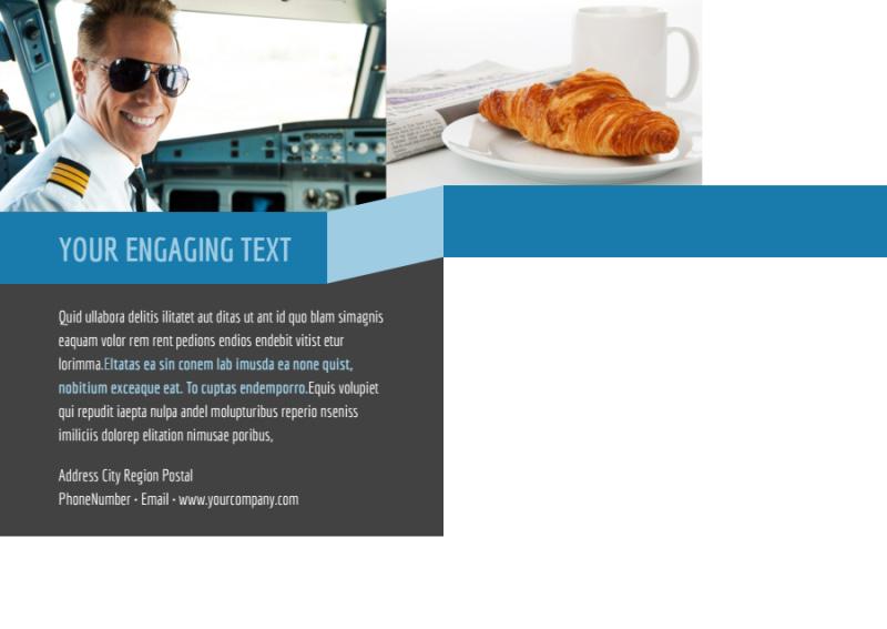 Aircraft Charter Postcard Template Preview 3