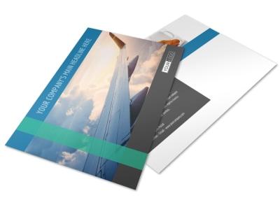 Aircraft Charter Postcard Template 2