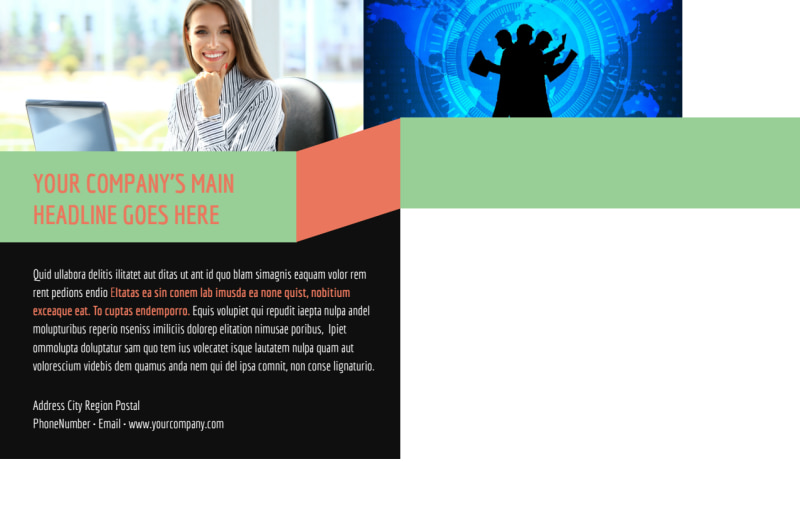 Local IT Consultants Postcard Template Preview 3