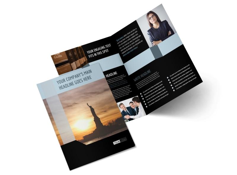 Immigration Attorney Bi-Fold Brochure Template 2