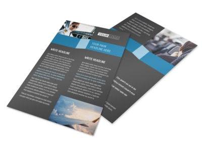 Aircraft Charter Flyer Template 3