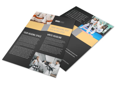 Martial Arts Instructor & School Flyer Template