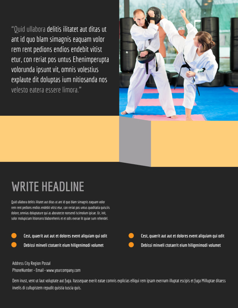 Martial Arts Academy Flyer Template Preview 3