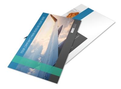 Aircraft Charter Postcard Template
