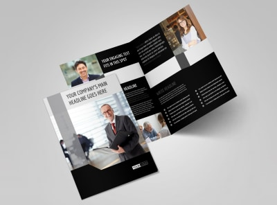 Pro Business Insurance Bi-Fold Brochure Template 2