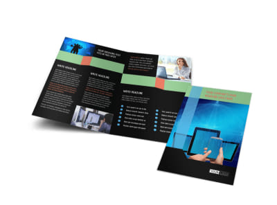 Local IT Consultants Bi-Fold Brochure Template
