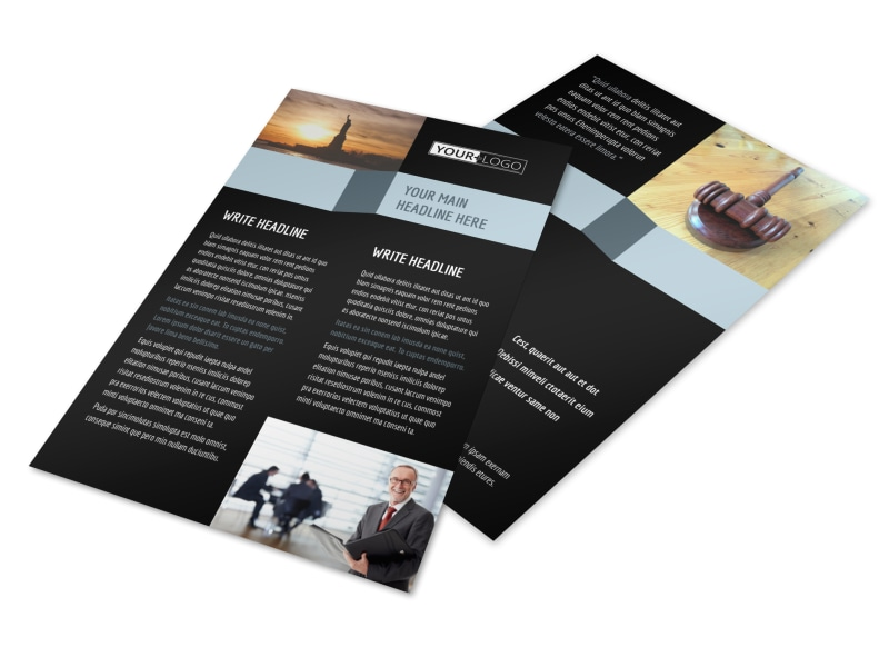 Immigration Attorney Flyer Template 3