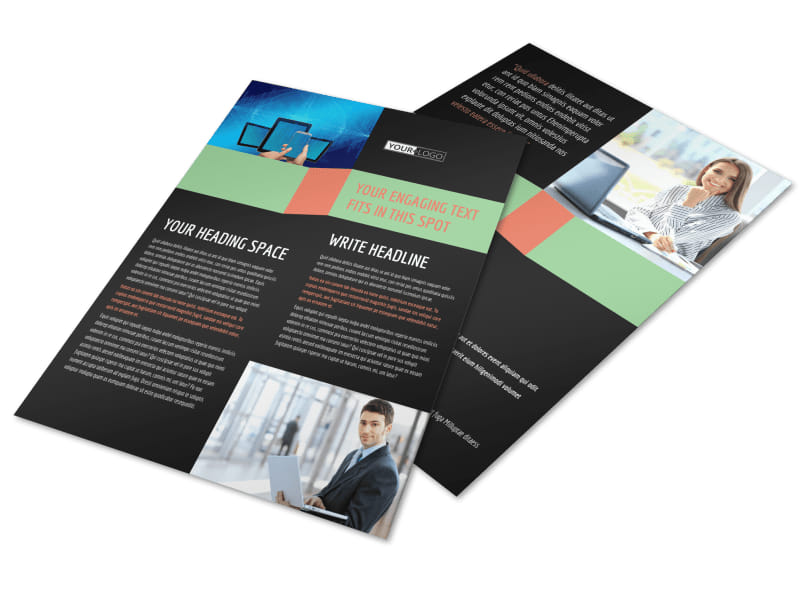 Local IT Consultants Flyer Template Preview 4
