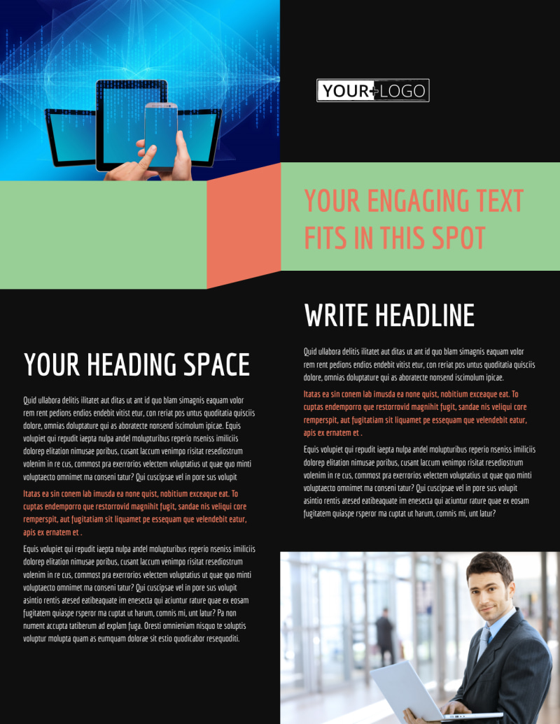 Local IT Consultants Flyer Template Preview 2