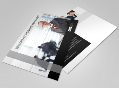 Pro Business Insurance Postcard Template preview