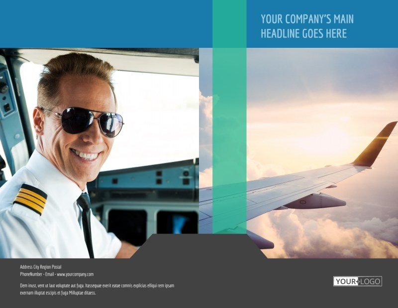 Aircraft Charter Brochure Template Preview 2