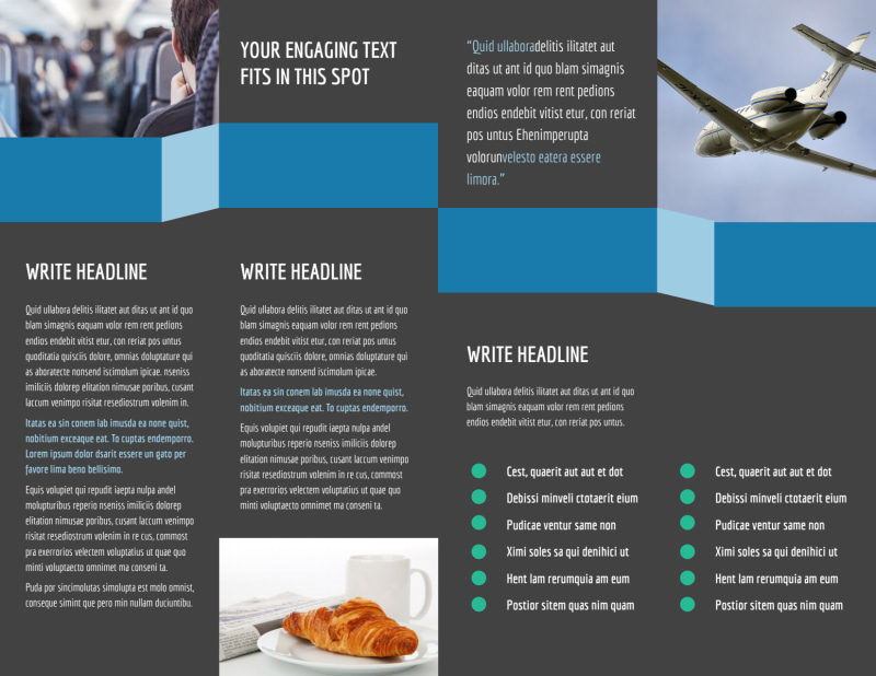 Aircraft Charter Brochure Template Preview 3