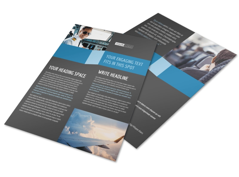 Aircraft Charter Flyer Template