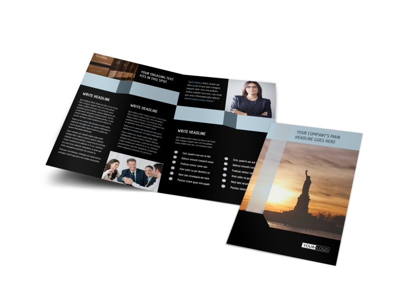 Immigration Attorney Brochure Template Preview 4