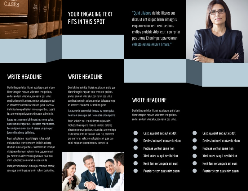 Immigration Attorney Brochure Template Preview 3