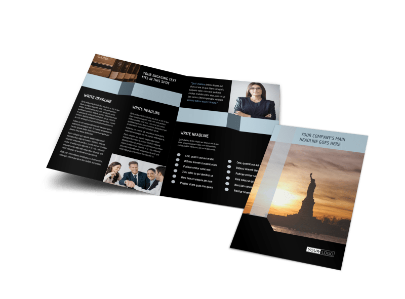 Immigration Attorney Brochure Template Preview 1