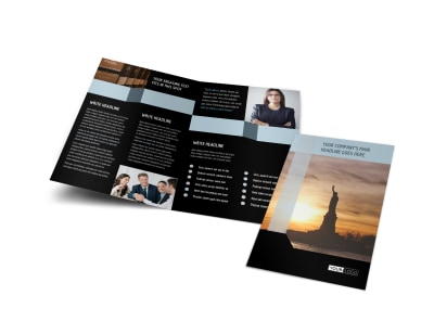 Immigration Attorney Bi-Fold Brochure Template preview
