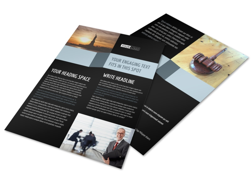 Immigration Attorney Flyer Template
