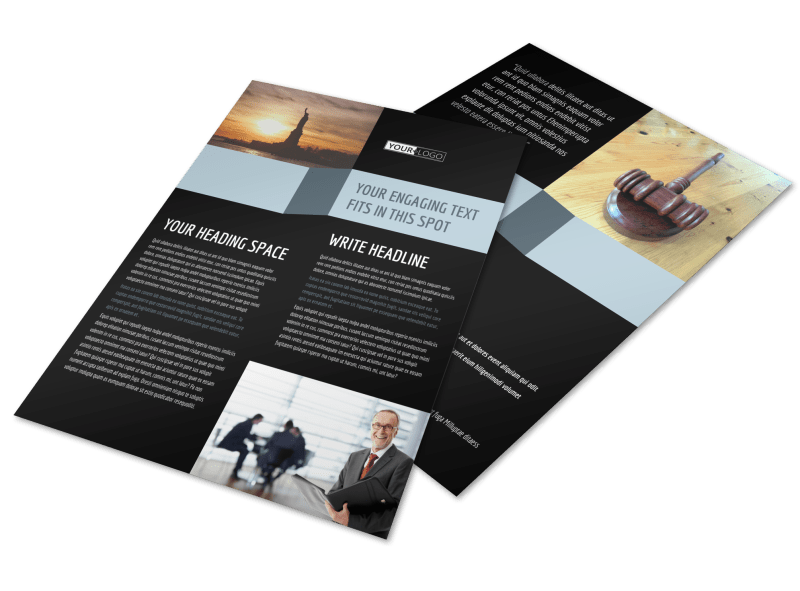 Immigration Attorney Flyer Template Preview 1