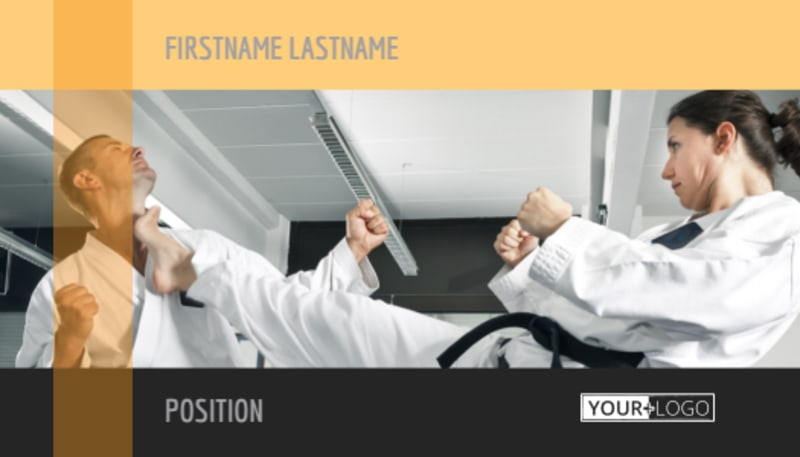 Martial Arts Academy Business Card Template Preview 2