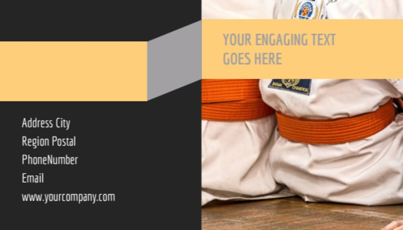 Martial Arts Academy Business Card Template Preview 3
