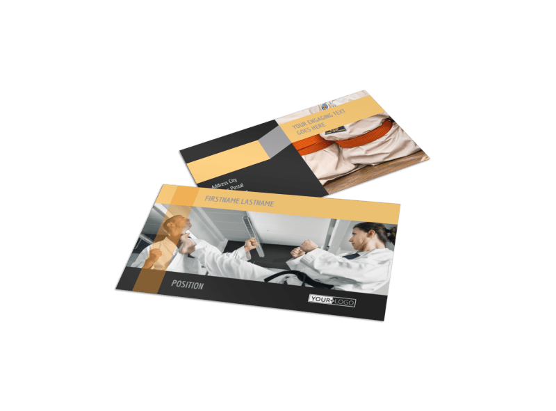 Martial Arts Academy Business Card Template Preview 1