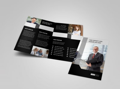 Pro Business Insurance Bi-Fold Brochure Template