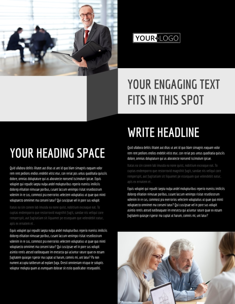 Pro Business Insurance Flyer Template Preview 2
